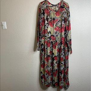 Floral Dress w/ Long Sleeve 2x